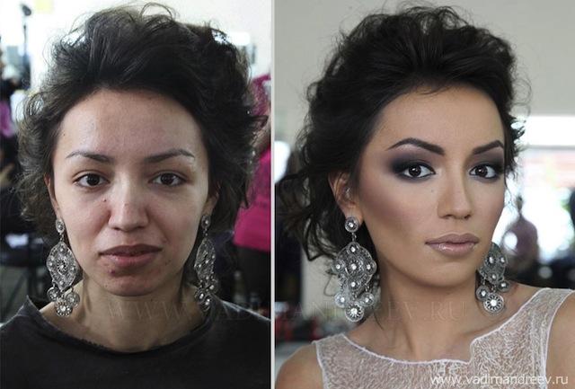 10 Espantosas imagens de pessoas antes e depois de maquiadas