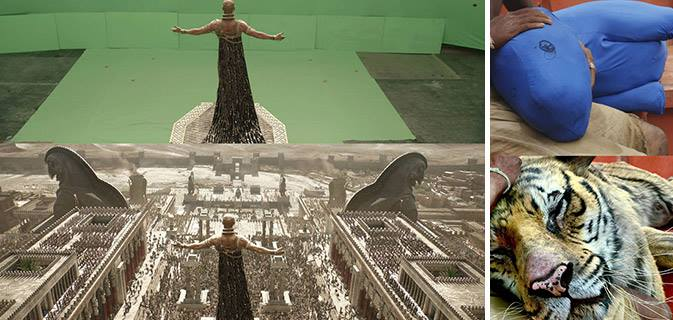 40 Cenas de filmes antes e depois do poder dos efeitos especiais