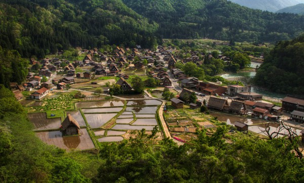 The village of Shirakawa-go, Japan