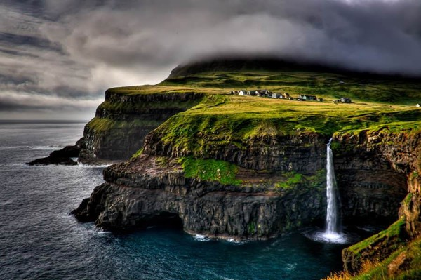 Village Gasadalur, Faroe Islands, Denmark