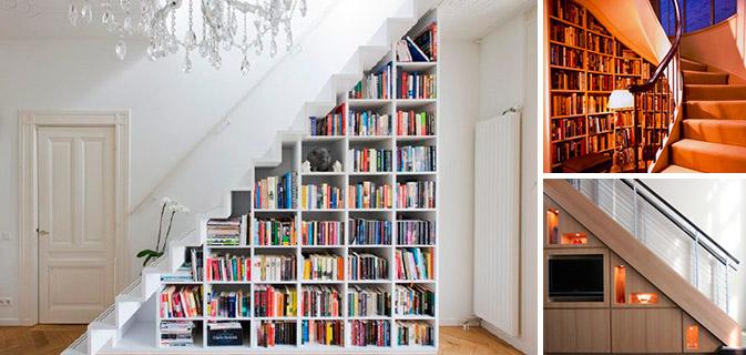 15 Ideias sensacionais para aproveitar o espaço embaixo de sua escada