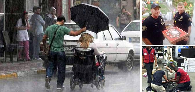 14 Exemplos tocantes de pessoas que fizeram toda a diferença com simples gestos de bondade