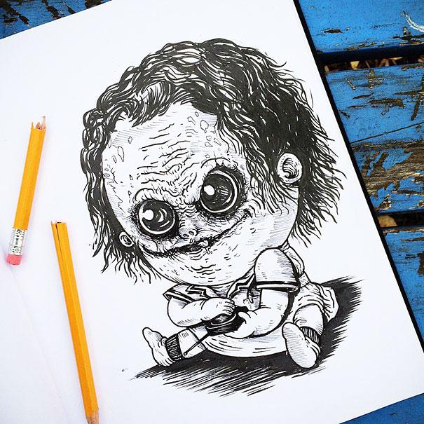 Bebês Terror 30 Personagens De Filmes Desenhados Como