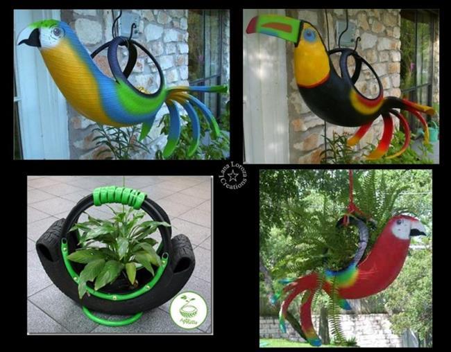 23 ideias criativas e realmente teis para reutilizar pneus for Adornos para plantas con llantas