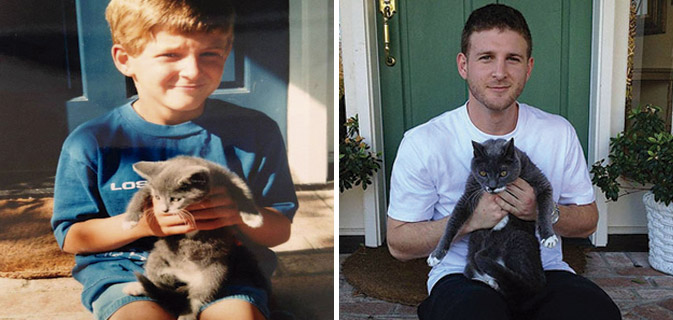 Antes e depois | 20 imagens que mostram gatinhos se tornando gatões