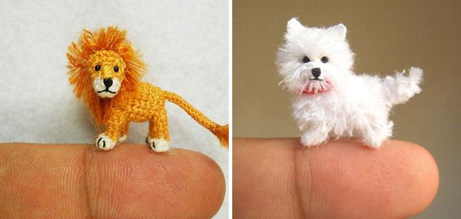 25 Lindas miniaturas de animais feitas de crochê!