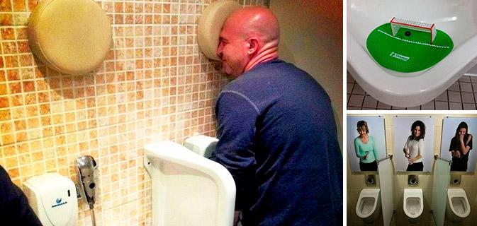 Bizarro  20 Banheiros que inovaram na hora de fazer mictórios! -> Mictorio Banheiro Feminino