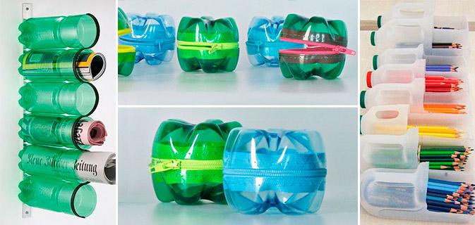 garrafas-de-plástico-reutilizadas