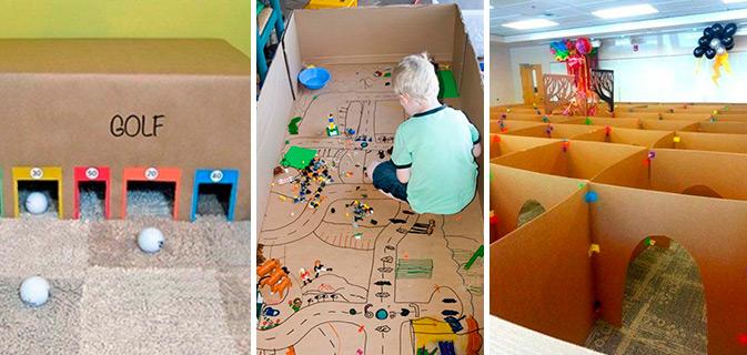 Excepcional 27 Ideias que utilizam caixas de papelão para criar atividades e  JF91