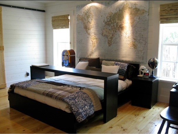 24 ideias de decora o para quartos masculinos que todo. Black Bedroom Furniture Sets. Home Design Ideas