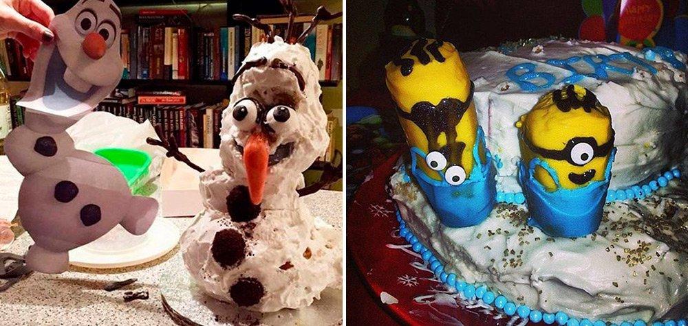 21 Tentativas de fazer bolos que não deram muito certo