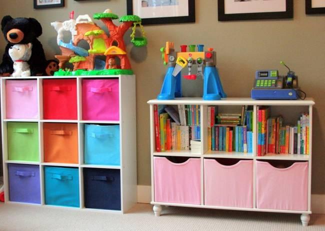 21 ideias para guardar as coisas no quarto das crian as - Mueble para guardar juguetes ...