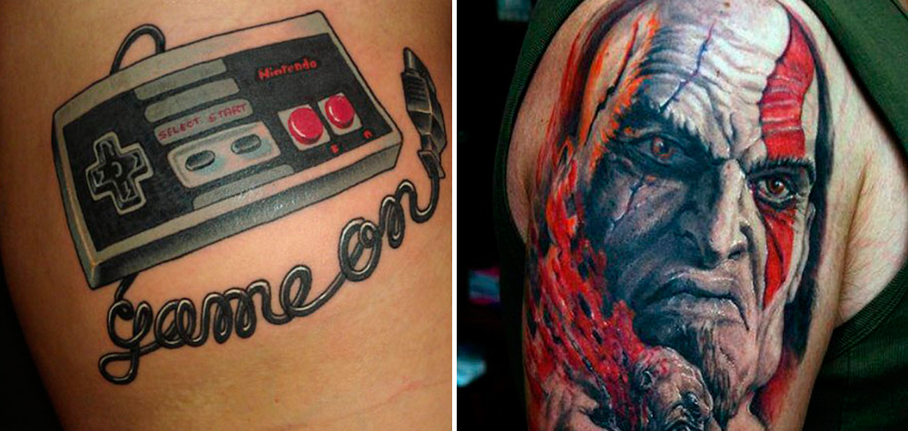 26 Tatuagens que são perfeitas para os amantes de games