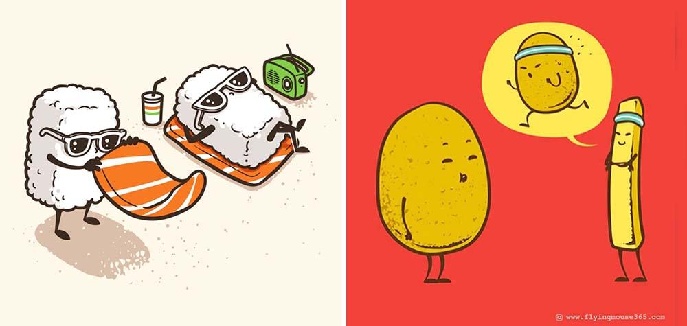 25 Ilustrações divertidas que trazem os personagens mais inusitados