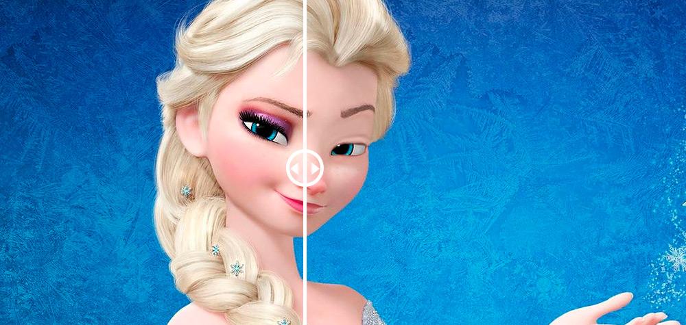 É assim que as princesas da Disney ficam sem maquiagem!
