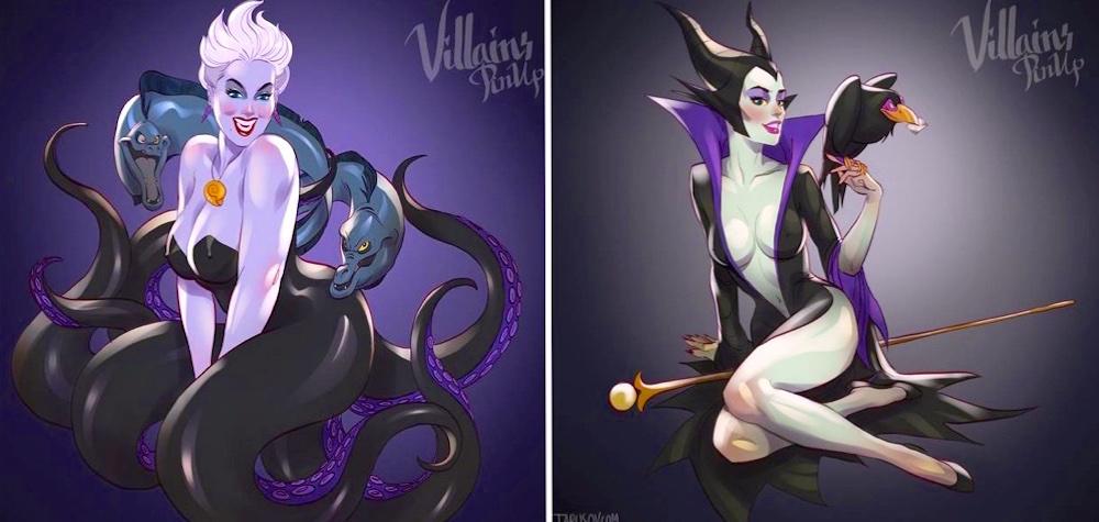 Artista transforma vilãs da Disney em lindas pin-ups