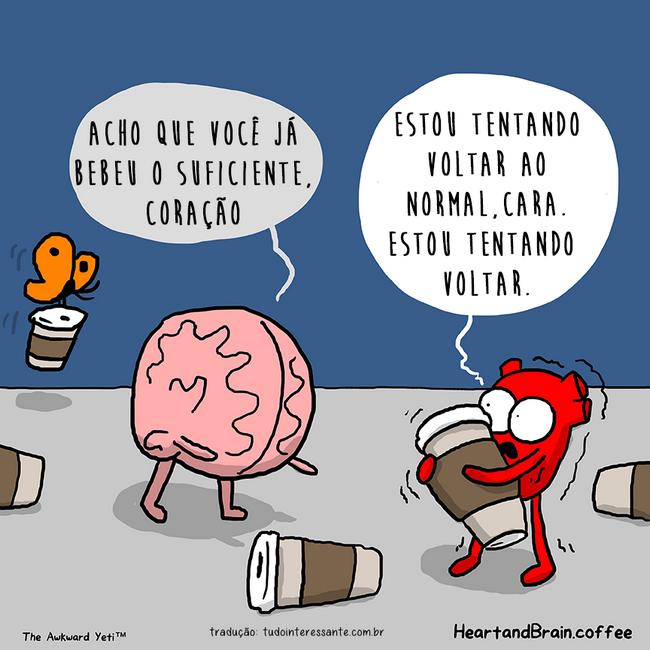 Brain Meme With Coffee