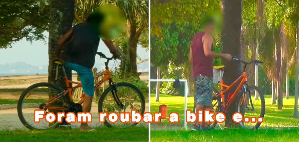 Sacaneando ladrões de bicicleta no Rio de Janeiro da melhor forma possível