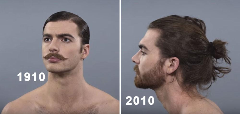 100 Anos Em 1 Minuto Os Estilos Masculinos De Cabelo E