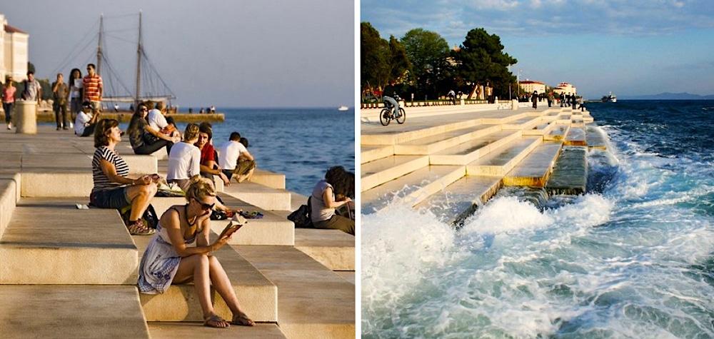 Tem Na Web - Você nem imagina o que acontece quando as ondas do mar tocam essa escada