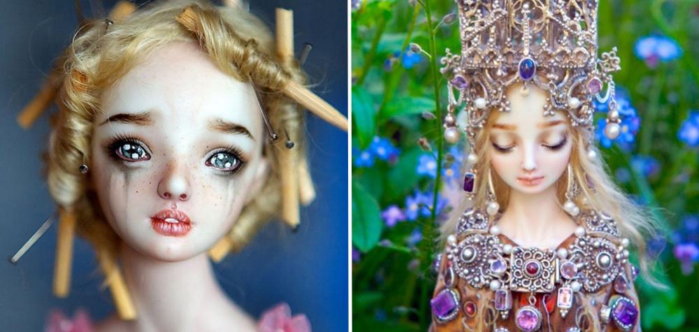 As bonecas de porcelana de Bychkova têm expressões melancólicas tão realistas que chegam a incomodar