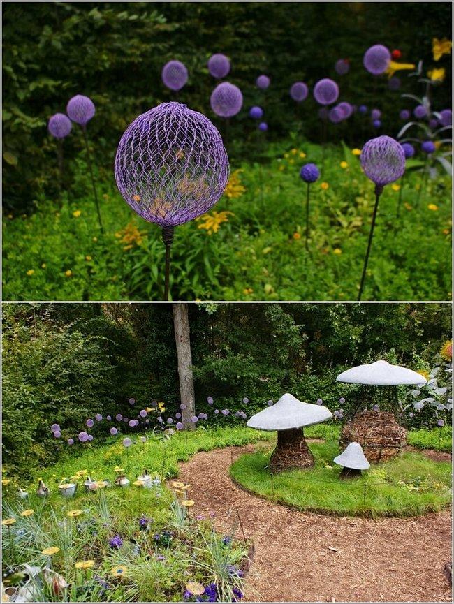 mini jardim reciclado:Mangueiras coloridas podem ser transformadas em flores gigantes