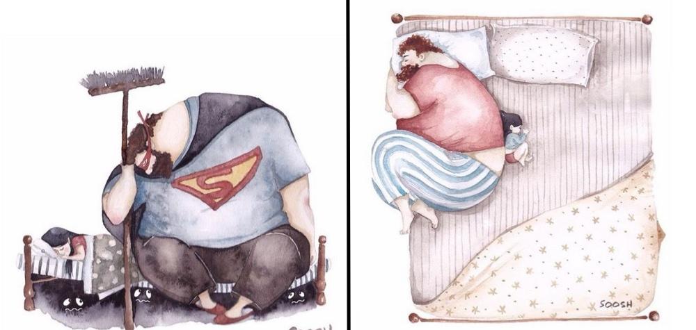 14 Ilustrações que mostram de forma criativa e tocante o amor entre pais e filhas