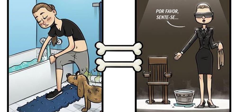 7 Ilustrações divertidas mostrando como os cães veem o mundo