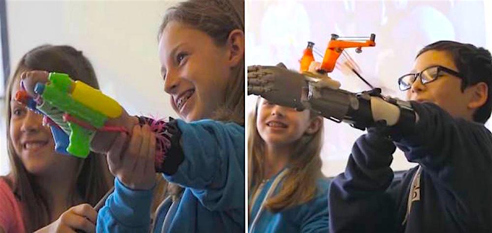 """Crianças ganham """"superpoderes"""" com próteses especiais – que elas mesmas criaram"""