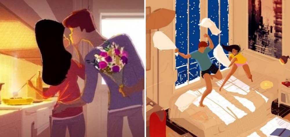 15 Lindas ilustrações que mostram a evolução do amor verdadeiro