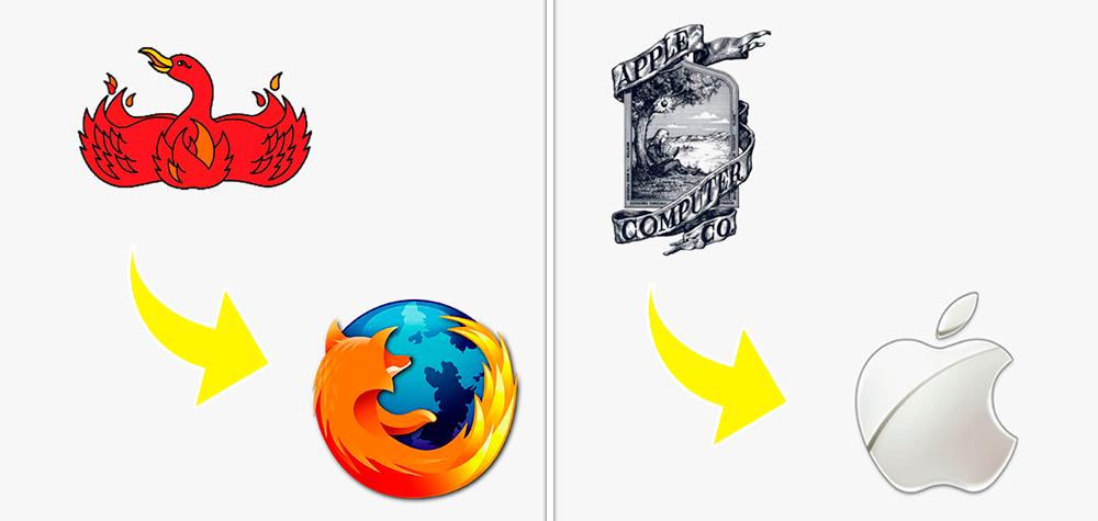 45 Logos famosos em suas primeiras versões e como estão hoje