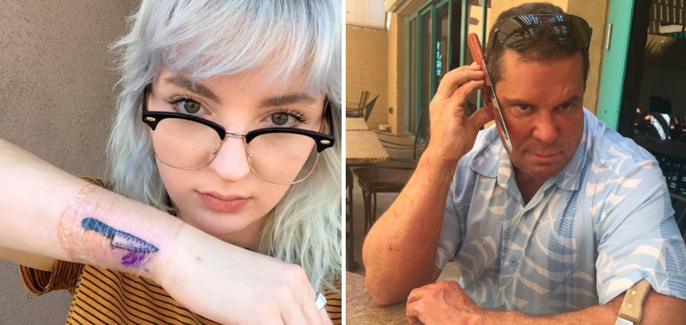 """O pai dessa garota reagiu da maneira mais """"paizona"""" possível à tatuagem que ela fez"""