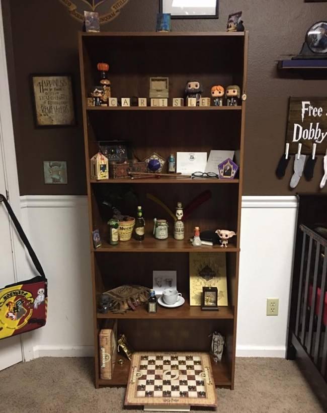 pais criam um quarto m gico de harry potter para seu beb e encantam os f s. Black Bedroom Furniture Sets. Home Design Ideas