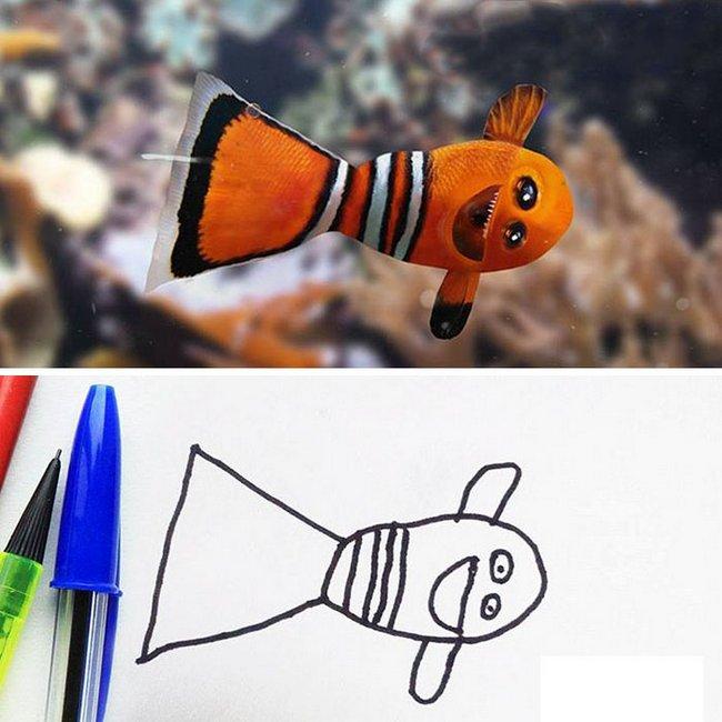 pai-transforma-desenhos-do-filho-em-fotos-1