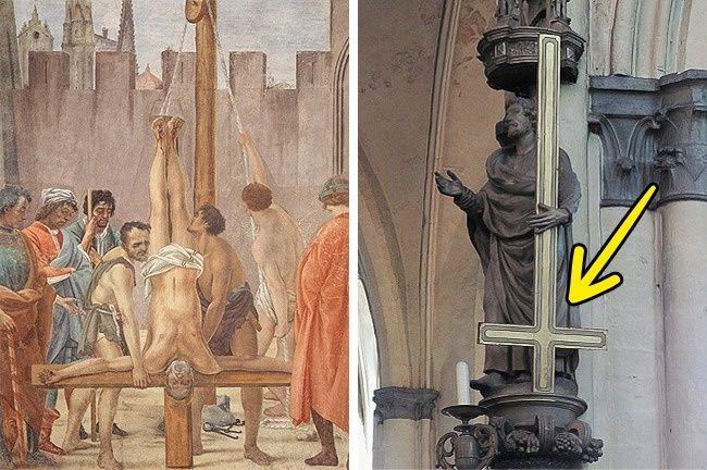 Resultado de imagem para são pedro na cruz invertido
