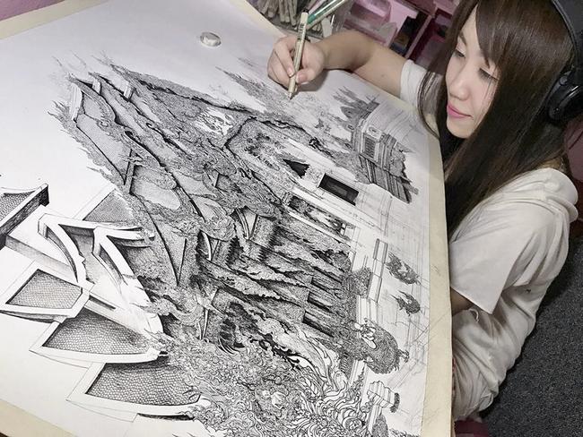 Japonesa Produz Desenhos Absurdamente Detalhados De Edificios