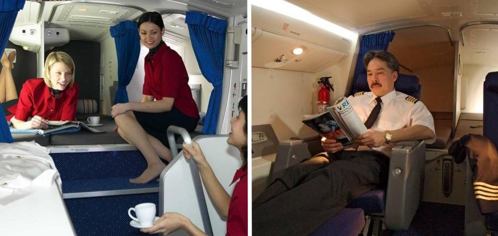 Tem Na Web - É assim que os comissários de bordo descansam em voos longos