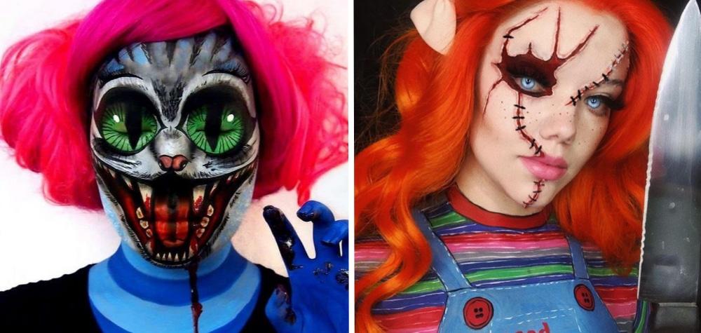 Tem Na Web - 20 Ideias de maquiagens bizarras para quem quer se destacar no Halloween