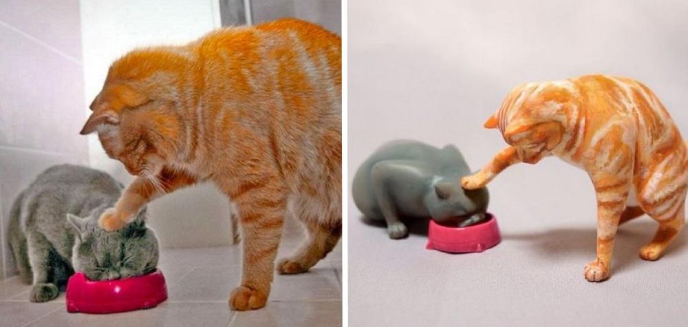 Tem Na Web - Este artista cria esculturas de animais a partir de fotos engraçadas